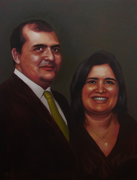Retrato de Julio de La Guardia e Katia Cubel
