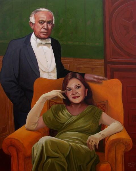 Retrato do Senador Adelmir Santana e Maria José