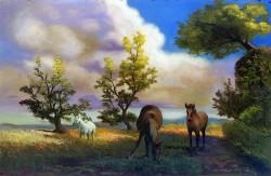 Paisagem com Cavalos