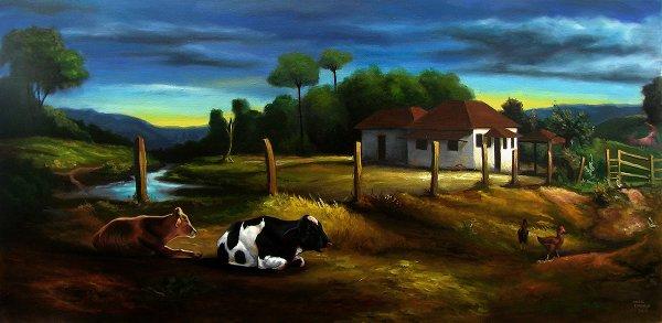 Paisagem com vacas