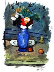 Aquarela - Vaso Azul