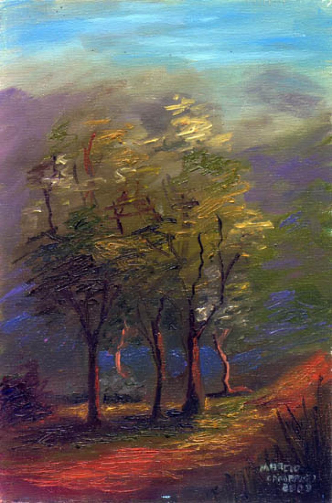 Árvores - Óleo sobre tela - Paisagem - Márcio Camargo ...