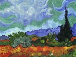 Ciprestes de Van Gogh