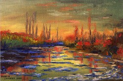 Degelo do Sena - Monet
