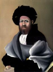 Estudo sobre retrato de Baldassare, de Rafael