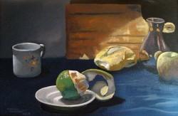 Laranja Descascada com pão