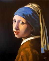Moça com brinco de pérola - Releitura sobre Vermeer