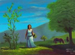 Mulher no campo