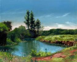 Paisagem de rio em Furnas