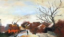 Paisagem impressionista no inverno