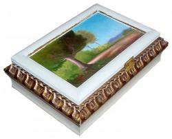 Paisagem - Pintura em caixa de madeira