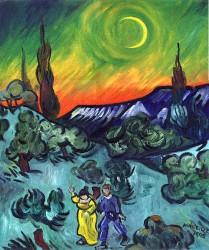 Passeio ao Crepúsculo de Van Gogh