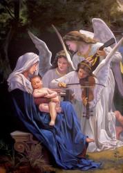Releitura de Bouguereau - A Música dos Anjos