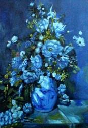 Releitura de Renoir - Vaso Azul