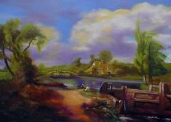 Releitura sobre Constable - Garotos Pescando