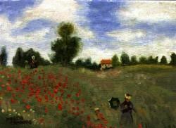 Releitura sobre Monet - Srta Monet no Campo