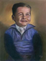 Retrato de Fernando Quintanilha quando criança