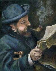 Retrato de Monet pintado por Renoir