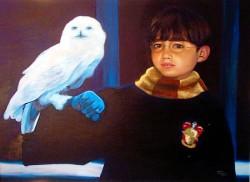 Retrato de Vitor como Harry Potter