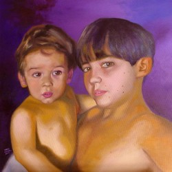 Retrato Thiago e Victor