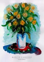 Vaso de Flores - Aquarela