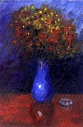 Vaso de Flores Azul