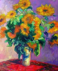 Vaso de Girassois - Monet