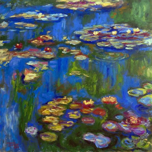 Releitura sobre Monet - Ninféias Azuis