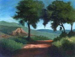 Rua com árvores